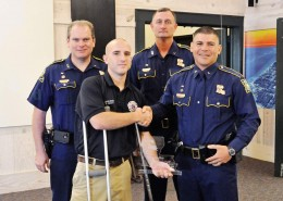 """FD12 Operator Greg Valley Receives """"Saved By The Belt"""" Award"""