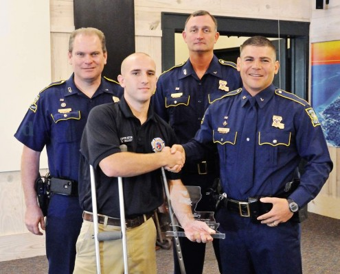 "FD12 Operator Greg Valley Receives ""Saved By The Belt"" Award"